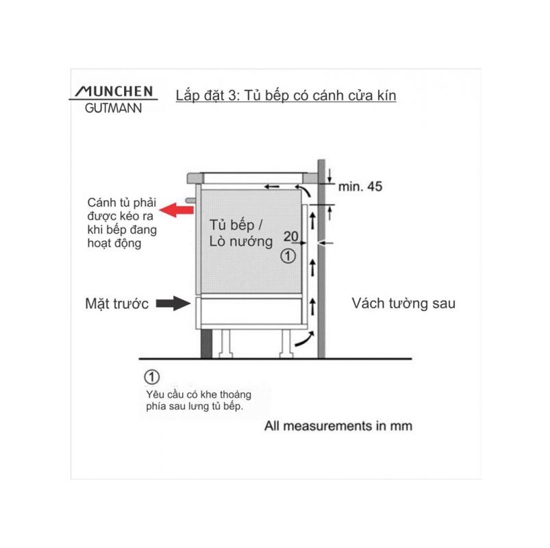 Bếp cảm ứng điện từ GM6318 X ( dòng ATLANTIS -Tây Ban Nha )