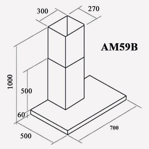 Máy hút mùi áp tường AM59B ( black edition )