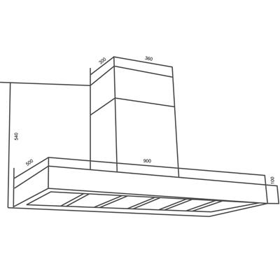 Wall cooker hood AM322