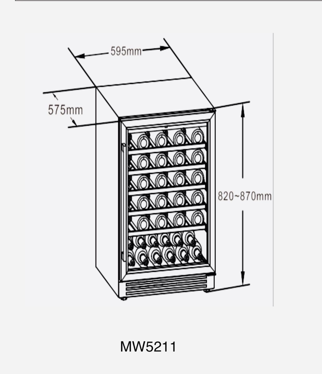 Tủ rượu vang MW5211 (Thể tích 145 lít)